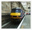 90036 at Edinburgh in March 2012 prior to working the sleeper portions to Carstairs