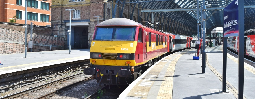 90049 stands at Euston on Monday 15th July with the 18:03 Euston to Birmingham 1G37